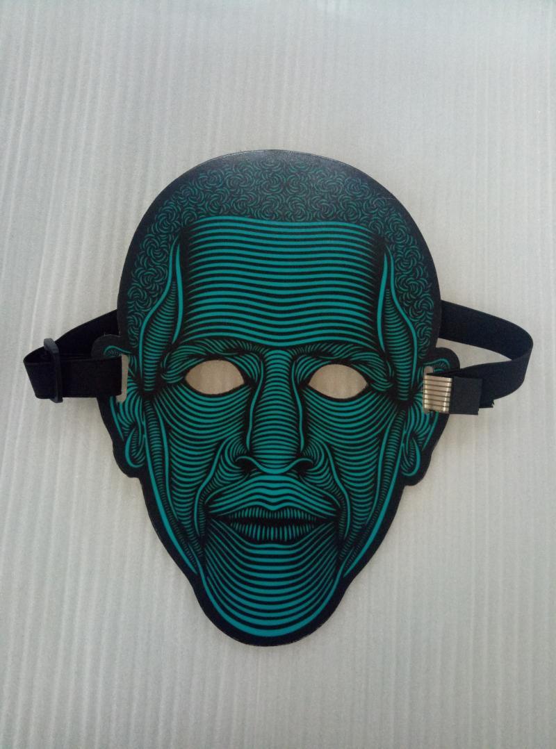EL发光面具 冷光面具 圣诞节万圣节面具 2