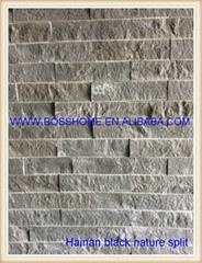 Hainan black natura split exterior wall cladding