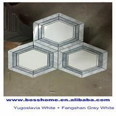 High quality pocelain Hexagon Mosaic Tile for sale