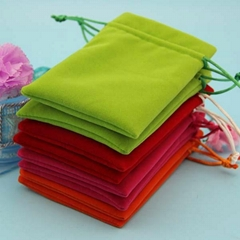 coloful drawstring jewelry pouch velvet fabric