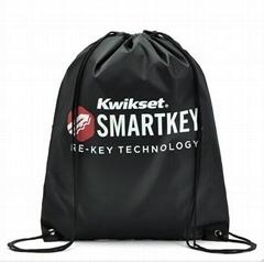 black color 210D polyester backpack bag