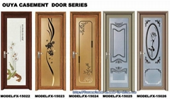 Hot sale  White Color Outward Opening Aluminum Casement Door