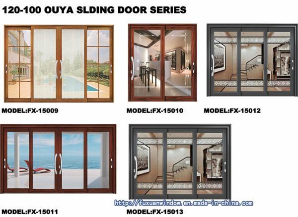 Three Track Aluminum Exterior Sliding Door FX-15022 5