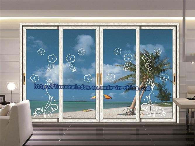 1 4 thick two tracks exterior glass sliding doors fx for Thickness of glass wall for exterior