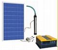AC solar water pump system for irrigation