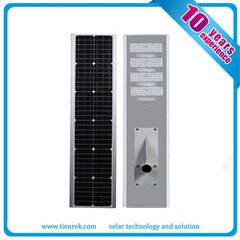 IP65 High Efficiency Integrated Solar Street Light All In One 100w
