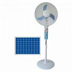 12V Rechargeable DC Solar Fan Mini Fan With Battery