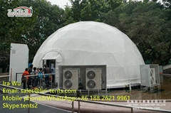 5-30m Steel Frame Geodesic Dome Half Sphere Tent With Any Color PVC Fabric