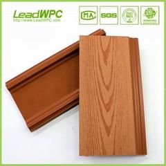 Wood plastic splinter free weather resistant house cladding