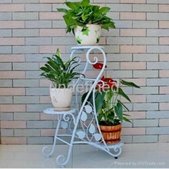 Fashion Flower Holder Wrought Iron Metal Flower Pot Rack