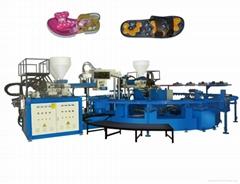 2015 Fashion machine 3 colors PCU or PVC shoe injection molding machine