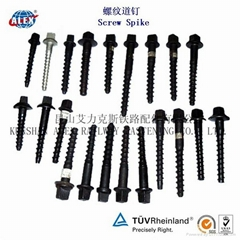 High Tension Rail bolts with nut for railroad fastening made in China