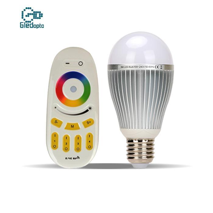 9w智能燈泡七彩變色調光無線遙控LED節能燈 1