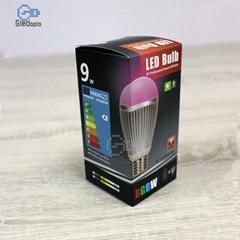 WIFI智能七彩RGBW變色調光9W無線遙控LED燈泡