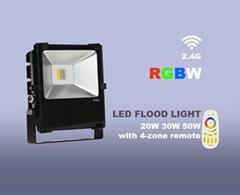 LED智能七彩RGBWWIFI無線遙控50W防水防潮戶外燈