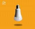 智能WIFI七綵球泡燈遠程無線