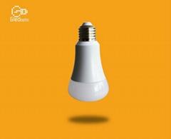 智能WIFI七綵球泡燈遠程無線遙控E27E26螺