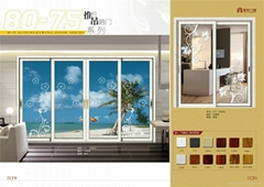 Fuxuan Best Price Aluminum Residential Glass Sliding Doors