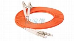 阳诚信LC-LC双芯多模电信级光纤跳线