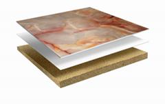 marble foamed ceramic composite tile