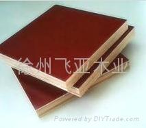 红膜建筑覆膜板 1