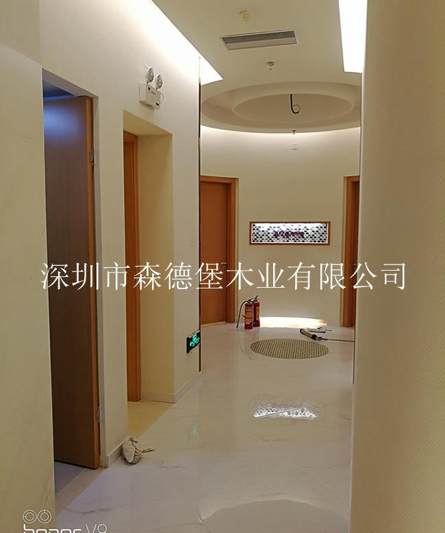 賓館酒店用橫紋木皮烤漆門 4