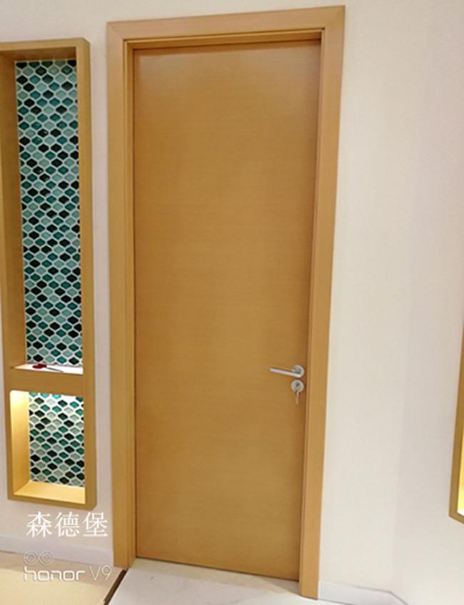 賓館酒店用橫紋木皮烤漆門 1