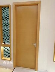 賓館酒店用橫紋木皮烤漆門