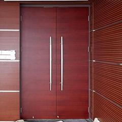 会议室用横纹木皮烤漆双开门