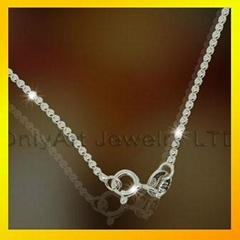 fashion 925 sterling silver bead chain