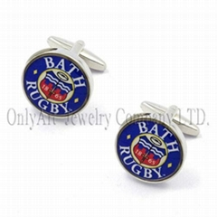 unique design memorable gift transparent enamel custom cufflinks
