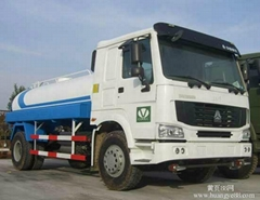 10M3 HOWO 4X2 Water Tank Truck with Flat Cab 290 HP