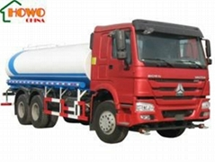 25M3 HOWO 6X4 Water Tank Truck with Flat Cab 336 HP