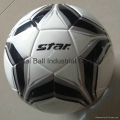 Laminated synthetic leather soccer/ footballs size 5