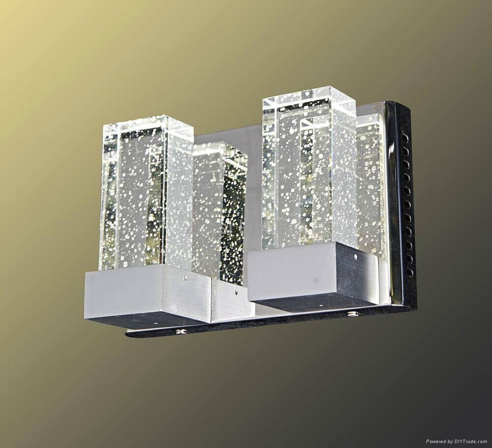 Decorative modern bubble crytstal led wall lamp 2
