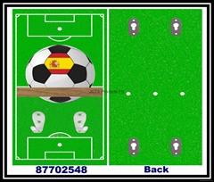 Wood Soccer Ball Rack wi