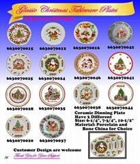 Glassic Christmas Tableware Plates