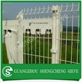 Hot galvanized curved wire mesh fence