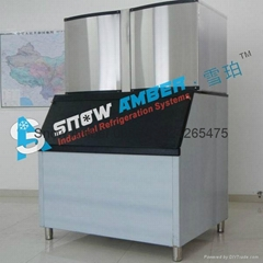 Commerical CE Approved Ice Cube Freezer Maker in Coffee and Hotel