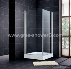 Square Rising pivot door available with marble tray