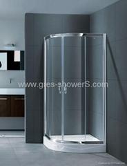 Quadrant shower enclosure glass door