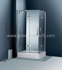 Frameless 10mm tempered glass Hinge Door shower enclosure