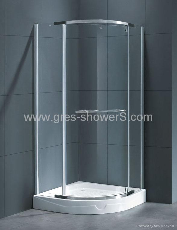 800x800mm Pivot Door Shower Cubicle 1