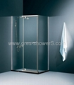 6mm glass chrome Pivot Door shower