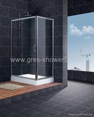 Slider away shower enclosure glass door