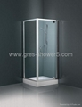 Purist Pivot Shower enclosure with Clear
