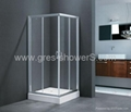 Small Sector Glass Shower  Corner Entry