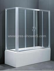 Slider away 6mm easy clean safety glass european Bath screen