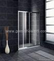 Slider away 6mm safety glass shower
