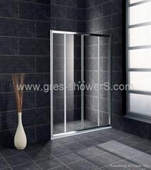 Slider away 6mm safety glass shower enclosure